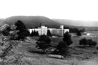 Photo of the West Virginia Colored Tuberculosis Sanatorium that was established in 1917 and opened two years later in 1919.