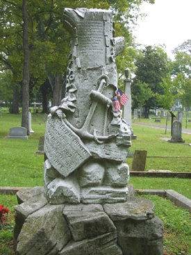 The tombstone of Capt. William Driver, with an anchor symbolizing his occupation as a seaman