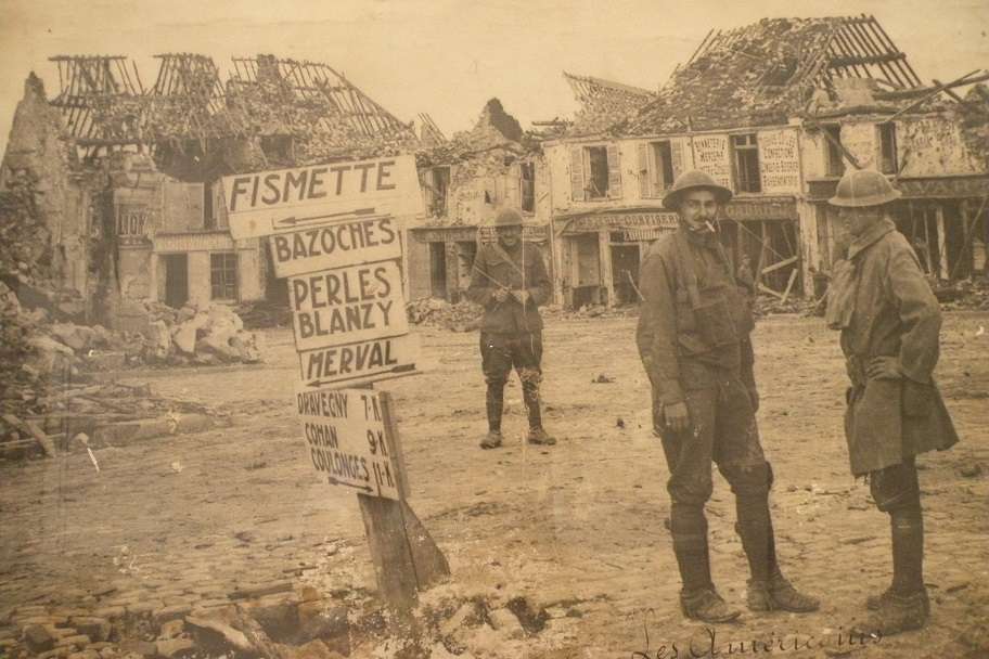 American troops in Fismette around 1918.