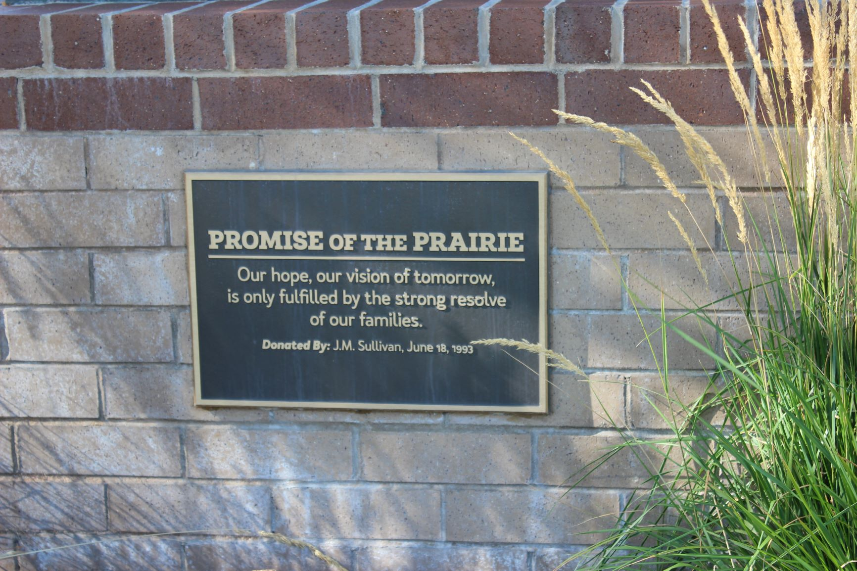 Promise of the Prairie plaque