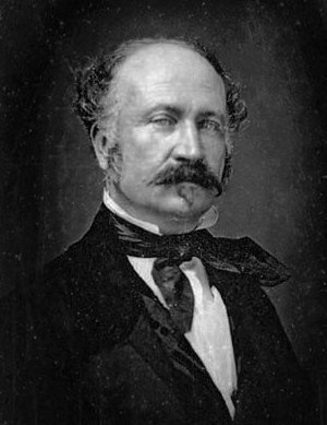 John Augustus Sutter, circa 1850. The Swiss-American immigrant finally achieved his ambitions of an agricultural empire in the 1840s, only to see them smashed during the Gold Rush of 1848-49.