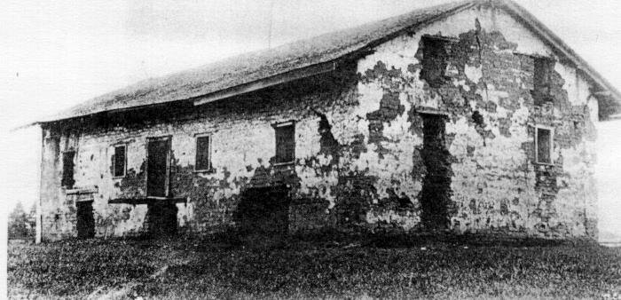 The Casa Grande's condition before restoration. A 3-story nerve center for Sutter's operation, it contains the office in which James Marshall presented to Sutter the gold nuggets that began the Gold Rush.
