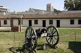 Cannons at Sutter's Fort. The outpost was one of the most heavily defended in California at it's height, though it never belonged to the Mexican Army and was only briefly held by the U.S. Army.