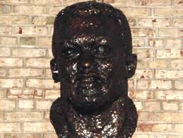 This bust of Robinson was dedicated in 1981