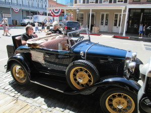 California Automobile Museum Car in a Parade in Old Sacramento
