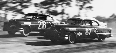 Buck Baker finished third in the 1954 NASCAR Grand National points standings and won four races in #87 during the campaign. His biggest victory of the season was the Mid-South 250 at the new Memphis-Arkansas Speedway.