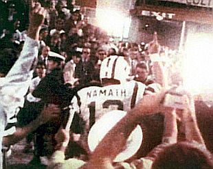 Joe Namath After the win over the Colts in Super Bowl III