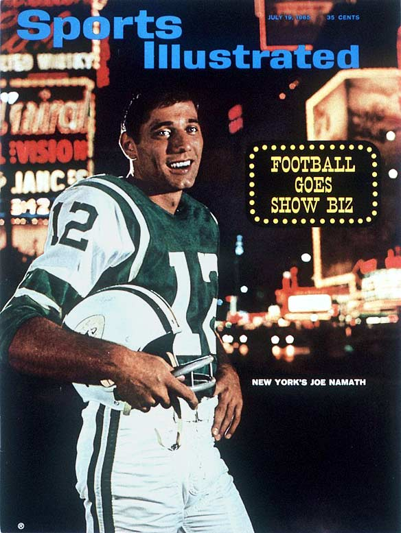 This was the Sports Illustrated cover when Joe Namath was a rookie