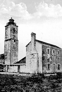 The lighthouse as it appeared in 1824.