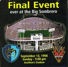 Flier for last sporting event to be held at the stadium