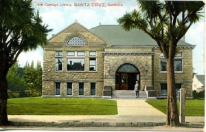 The museum's first home was in the downtown library. This library was located at the present location of the Central Branch library.