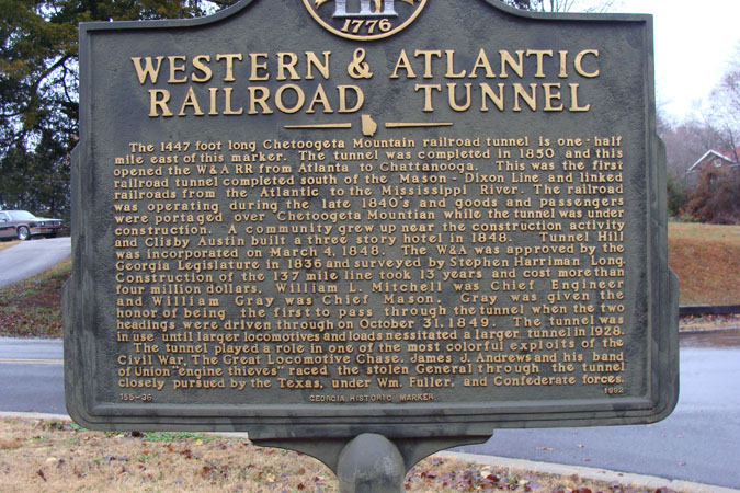 The Historic 1850  Western and Atlantic Railroad Tunnel