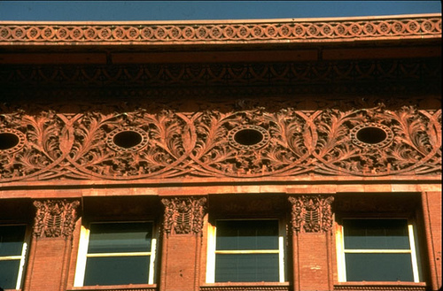 A detail of the cornice of the Wainwright Building