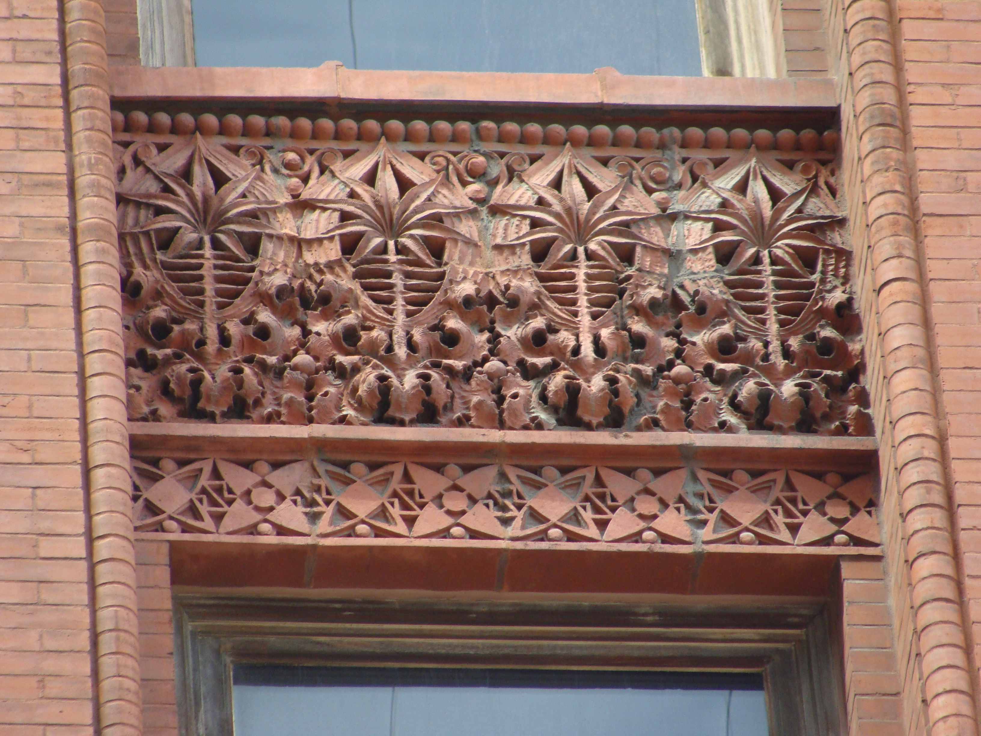 A detail of one of the spandrels of the Wainwright Building