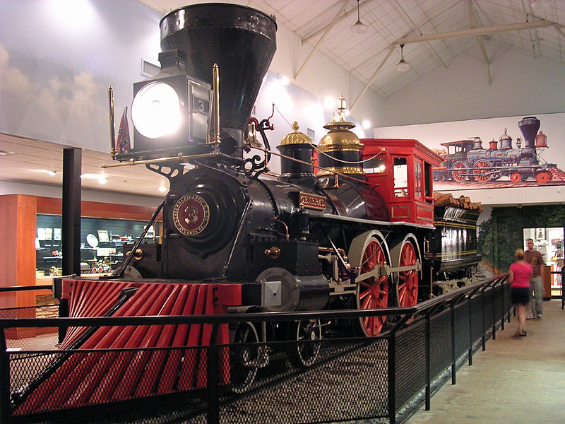 Western and Atlantic Railroad No. 3: The General, on display in Kennesaw, Georgia.
