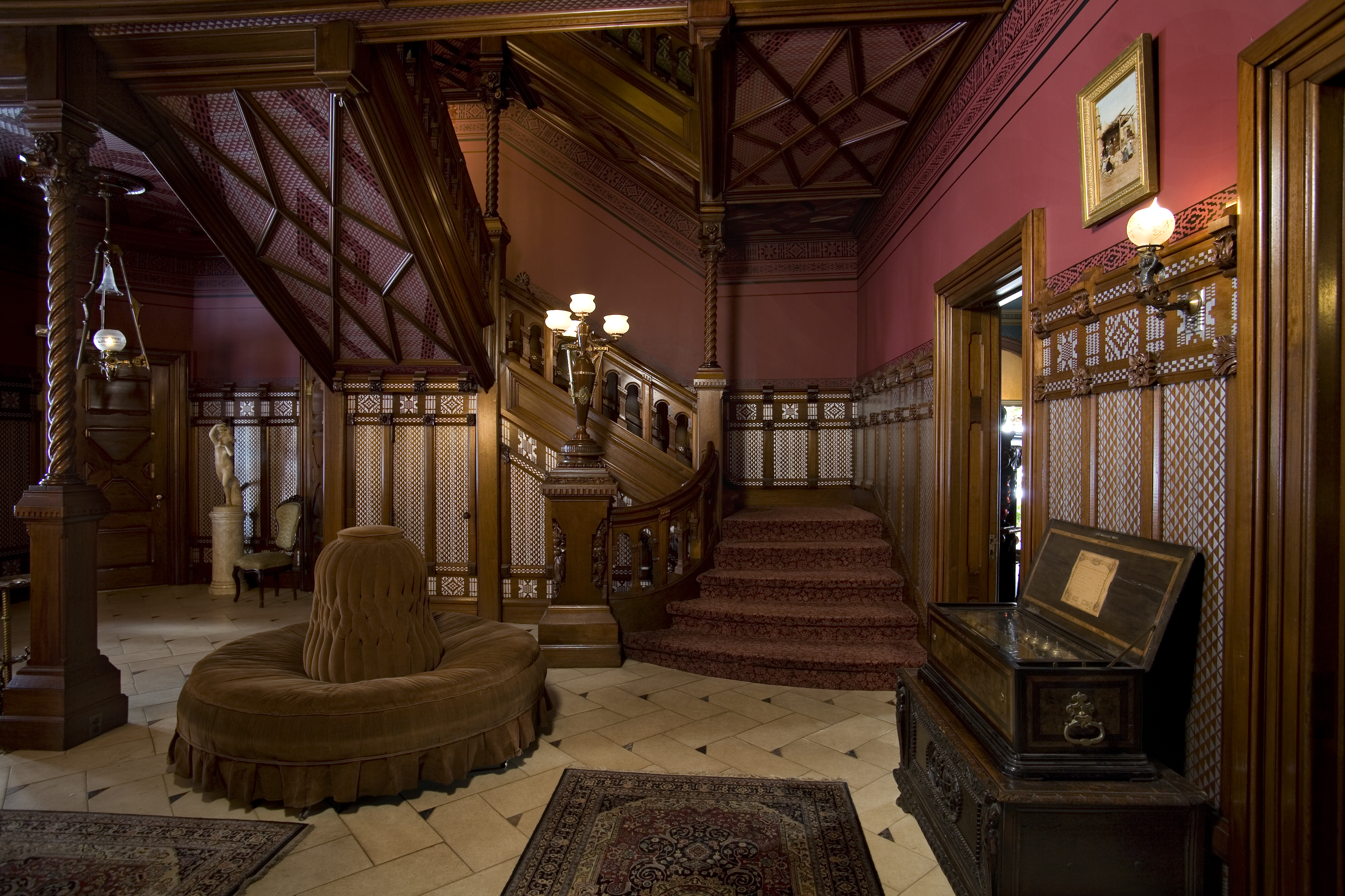 Guests were admitted into the front hall by the butler, George Griffin.