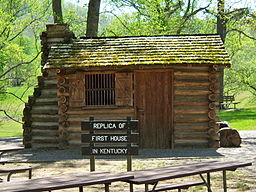 Replica of Thomas Walker's cabin