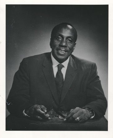 A photograph of Howard Thurman