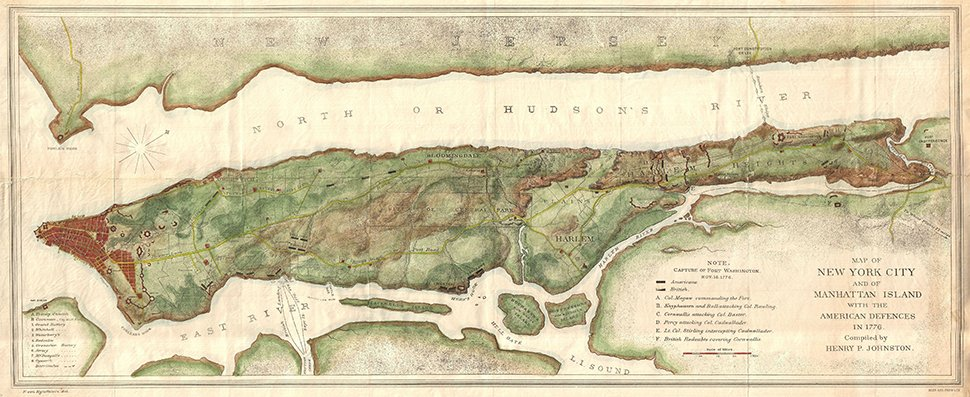 1776 map of Manhattan illustrating how rural what would become E 61st St. was at the time of the construction of Mount Vernon.