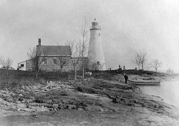 The West Sister Island Lighthouse and Residence in 1885 before the addition