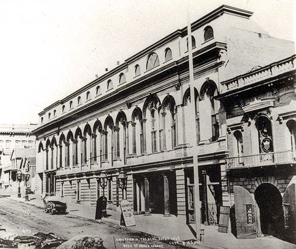 The first site of the California Theatre