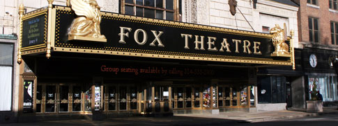 The marquee of the Fox Theatre - St. Louis