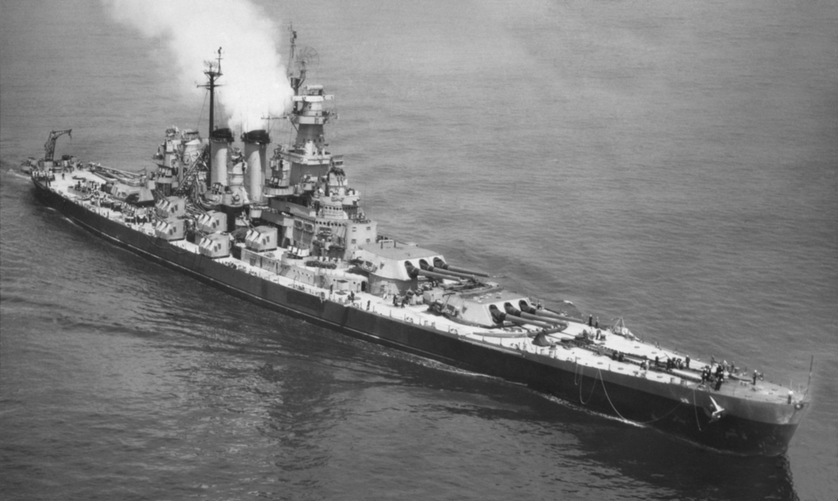 USS North Carolina was completed in 1937 and took part in nearly every naval offensive in the Pacific during World War II.