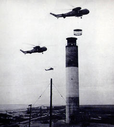 Older photo of the lighthouse during air shows.