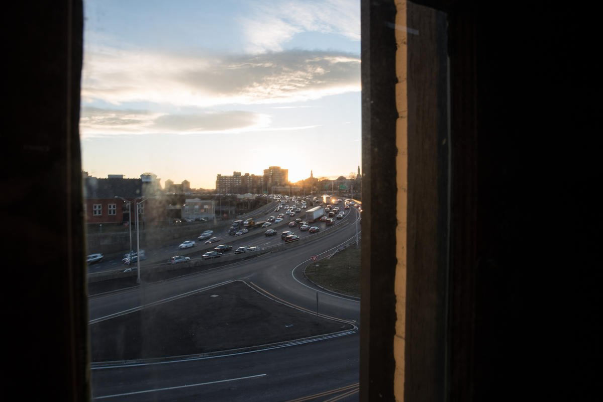 I-84 can be viewed from the third floor.