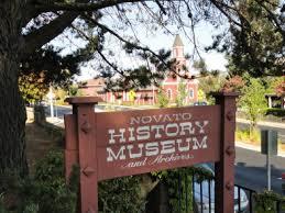 Novato History Museum sign