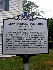 The National Historical marker outside the Bontemps home.