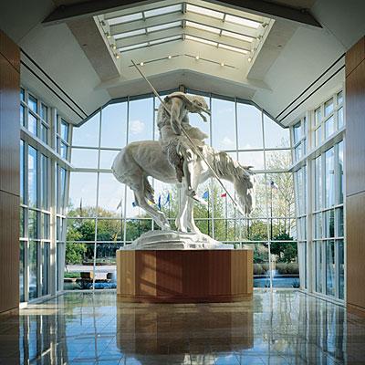 Beautiful statue in the atrium of the museum.