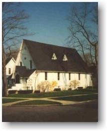 An older photo of St. John's Episcopal Church.
