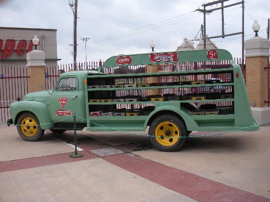 An original Dr. Pepper factory truck