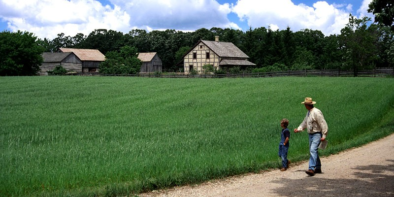 One of the farms at Old World Wisconsin