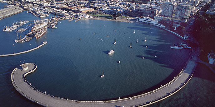 Aerial View of Aquatic Park Historic District