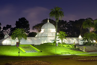 The Conservatory of Flowers at Night