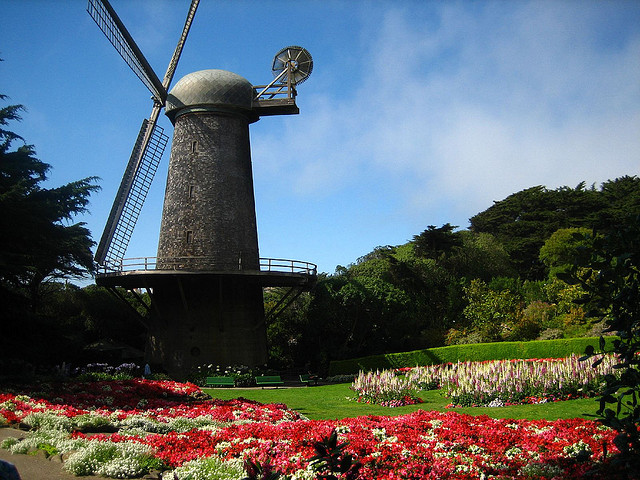 The Dutch Windmill and the Queen Wilhelmina Tulip Garden