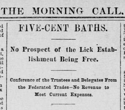 On January 16, 1891, the San Francisco Call newspaper reported the new charge that customers of the Baths, previously free, would need to pay for use. The decision was initially, understandably unpopular.
