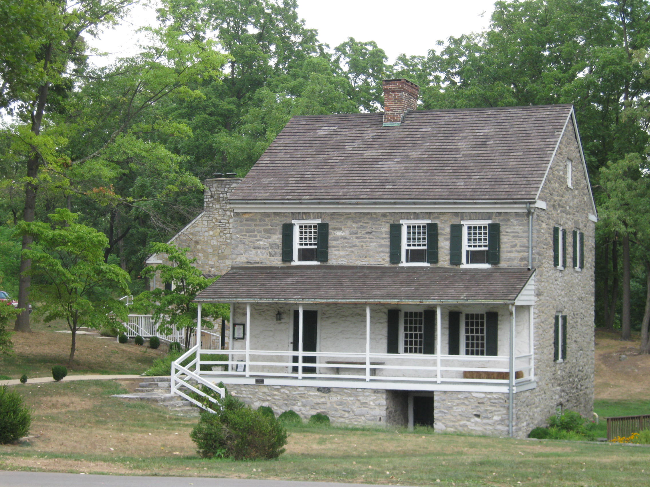 Built around 1740, the Hager House contains exhibits about life in the colonial period and early republic, complete with authentic furnishings from the period.