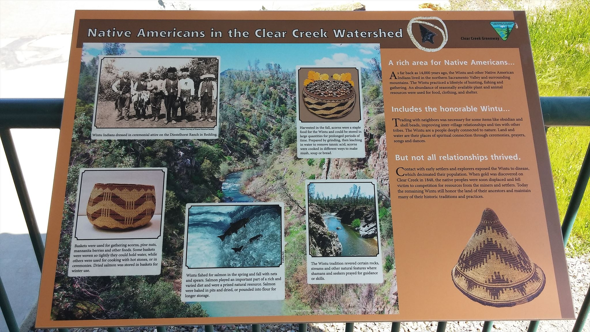 This historical marker provides information about the Native Americans who inhabited the watershed.