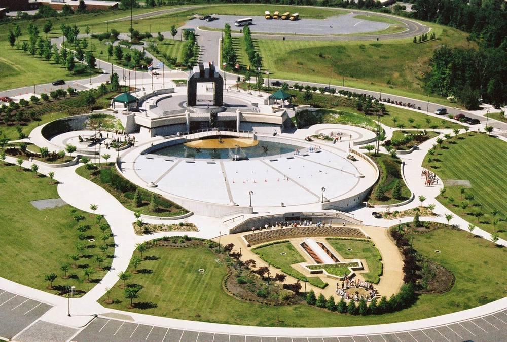 Aerial view of the entire memorial