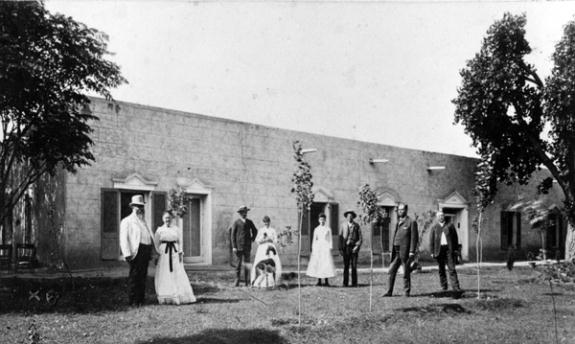 Photo showing some of the family that used to live there.