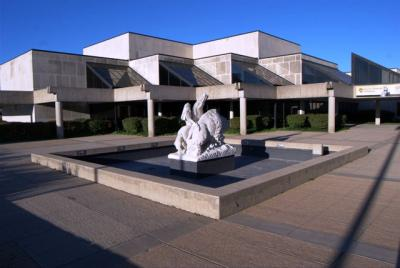 This modern facility was constructed to house the growing museum and archives in the 1980s