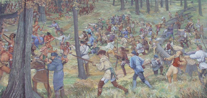 Artist's depiction of the Battle of Point Peasant.