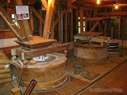 Grinding stones inside of Bear's Mill