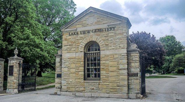 Entrance to Lake View Cemetery. Photo: Doug Bardwell