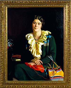 An oil painting of Caroline Stevens Rogers c.1931