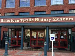 The entrance to the American Textile History Museum