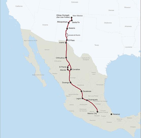 El Camino Real Historic Trail Map